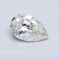 所選擇的鑽石: 1.01 克拉梨形鑽石