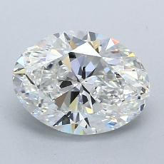 1.50-Carat Oval Diamond Very Good E VS1