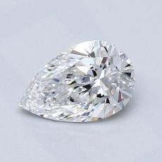 0.71-Carat Pear Diamond Very Good D VS2