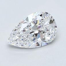 推薦鑽石 #4: 1.28 克拉梨形鑽石