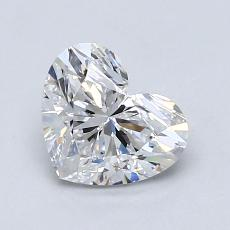 1,01-Carat Heart Diamond Very Good D SI1