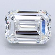 3,01-Carat Emerald Diamond Very Good F VVS1