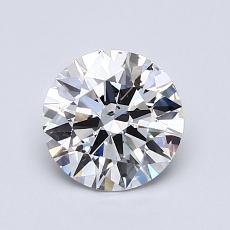 1.00 Carat 圓形 Diamond 理想 D SI1