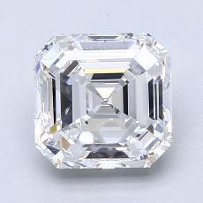 Piedra recomendada 2: con diamante Talla Asscher de 2.30 quilates