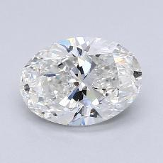 1.70-Carat Oval Diamond Very Good G SI1