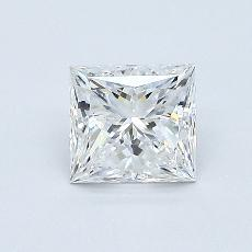 0.71 Carat 公主方形 Diamond 非常好 E VVS2