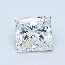 1.00 Carat 公主方形 Diamond 良好 E VS2