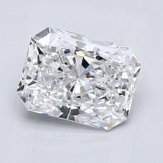 Pierre recommandée n°4: Diamant Taille radiant de 1,30carat