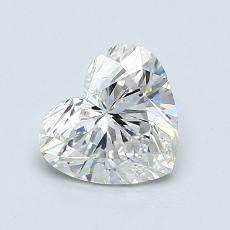Piedra recomendada 4: Diamante con forma de corazón de 1.00 quilates