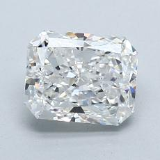1.50-Carat Radiant Diamond Very Good F VVS2