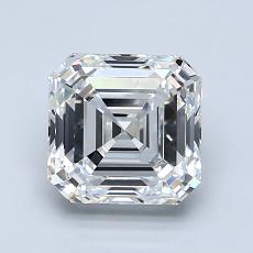 1.80-Carat Asscher Diamond Very Good F VVS2