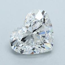所選擇的鑽石: 1.50 克拉心形切割鑽石