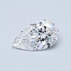 0.53-Carat Pear Diamond Very Good E IF