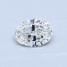 0.73 Carat 椭圆形 Diamond 非常好 F VVS1