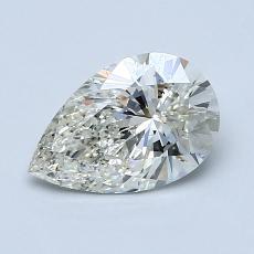 所選擇的鑽石: 1.03 克拉梨形鑽石