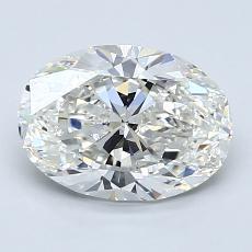 Piedra recomendada 2: con diamante Talla ovalada de 1.80 quilates