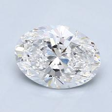 1.30-Carat Oval Diamond Very Good D VS1