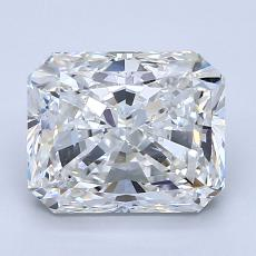 Pierre cible: Diamant taille radiant 2,25 carats