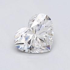 0.78-Carat Heart Diamond Very Good G SI1