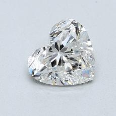 Piedra objetivo: Diamante con forma de corazón de 1.00 quilates