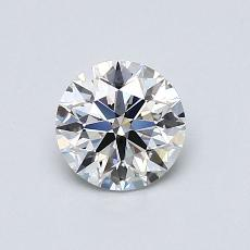 0.70-Carat Round Diamond Ideal H SI1
