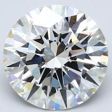 4.13-Carat Round Diamond Ideal H VVS2