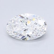 推荐宝石 1:1.90克拉椭圆形切割钻石