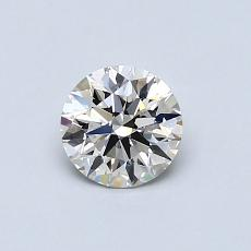 0.53-Carat Round Diamond Ideal I VVS2