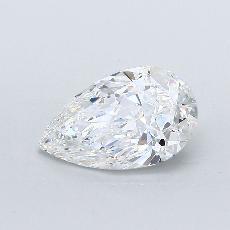 1.51-Carat Pear Diamond Very Good D VS2