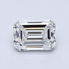 0.70 Carat Esmeralda Diamond Muy buena F VVS1
