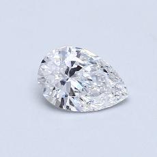 0,73-Carat Pear Diamond Very Good D VS1