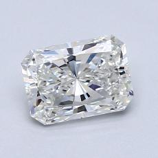 1.00-Carat Radiant Diamond Very Good H VVS1