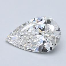 Pierre recommandée n°1: Diamant taille poire 1,05carats