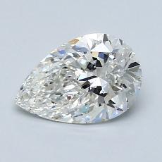 1.07 Carat 梨形 Diamond 非常好 H IF