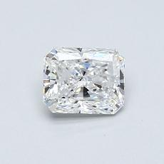 0.50-Carat Radiant Diamond Very Good E VS1