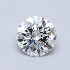 0.80-Carat Round Diamond Ideal D VVS1
