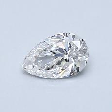 0.50-Carat Pear Diamond Very Good E VVS2