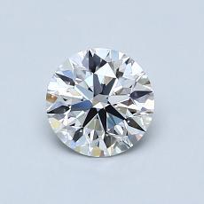 0,70 Carat Rond Diamond Idéale F IF
