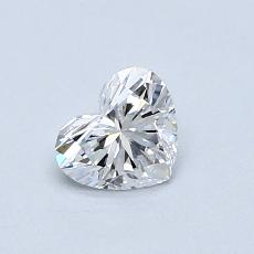 0.50-Carat Heart Diamond Very Good D IF