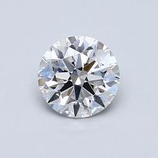 0.70 Carat 圓形 Diamond 理想 E VS2