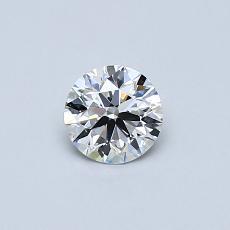 0.40 Carat 圓形 Diamond 理想 E VVS1