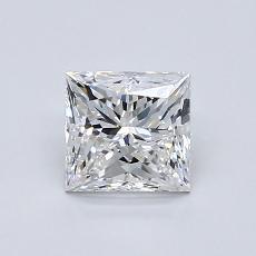 1.00 Carat 公主方形 Diamond 非常好 E VVS2