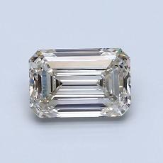 1.05-Carat Emerald Diamond Very Good K VVS1