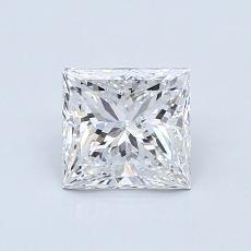 1.00 Carat Princesa Diamond Muy buena E SI2