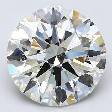 目标宝石:4.01克拉圆形切割钻石