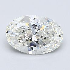 Piedra recomendada 4: Diamantes de talla ovalada de 2.04 quilates