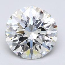 2,04-Carat Round Diamond Ideal F VS2