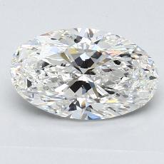 推荐宝石 1:1.50克拉椭圆形切割钻石