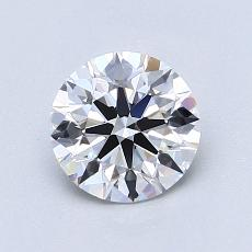 1.03-Carat Round Diamond Ideal E VVS2