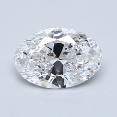 1.00-Carat Oval Diamond Very Good D VS1